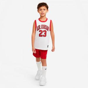 Air Jordan Jumpman 2 Piece Kids Set ''White/Red''