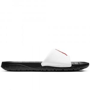 Air Jordan Break Slides ''Black/University Red-White''