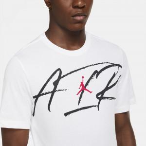 Air Jordan Dri-FIT Air Script Crew T-Shirt ''White''