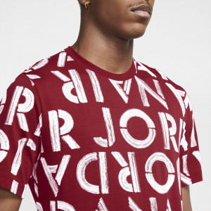 Air Jordan Printed Crew T-Shirt ''Gym Red''