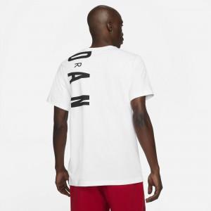 Air Jordan Air T-Shirt ''White/Black-Gym Red''