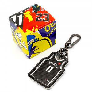NBA Brooklyn Nets Kyrie Irving Jersey Keychain ''Black''