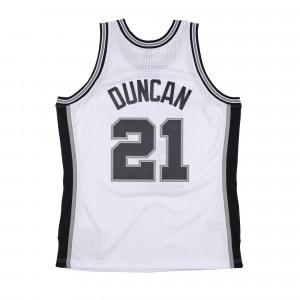 M&N Swingman San Antonio Spurs 1998-99 Tim Duncan Jersey ''White''