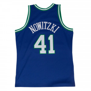 M&N NBA Dirk Nowitzki Dallas Mavericks 1998-99 Road Swingman Jersey ''Blue''