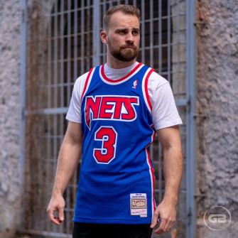 M&N Dražen Petrović 3 New Jersey Nets 1992-93 Swingman Jersey