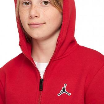 Air Jordan Jumpman Full-Zip Kids Hoodie ''Gym Red''