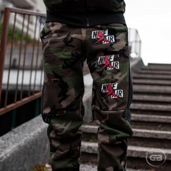 Air Jordan Jumpman Classics Camo Fleece Pants ''Olive/Black''