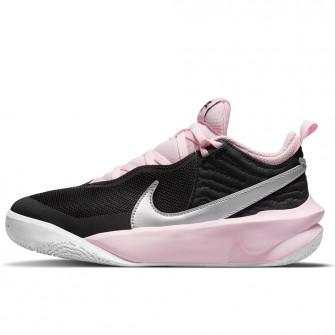 Nike Team Hustle D 10 FlyEase ''Black/Metalic Silver/Pink Foam'' (GS)