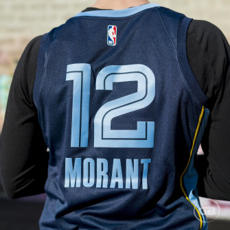 Nike Ja Morant Grizzlies Icon Edition Swingman Jersey ''College Navy''