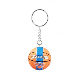 NBA New York Knicks Basketball Keychain ''Orange/Blue''