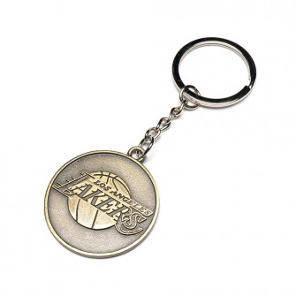 NBA Los Angeles Lakers Team Retro Metal Keychain