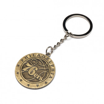 NBA Philadelphia 76ers Team Retro Metal Keychain