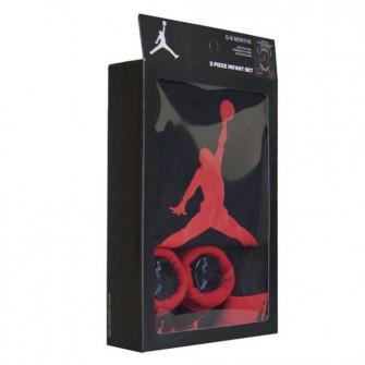 Air Jordan Jumpman Baby Set ''Black/University Red''